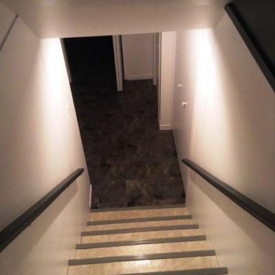 Escalier pour la salle Home TV